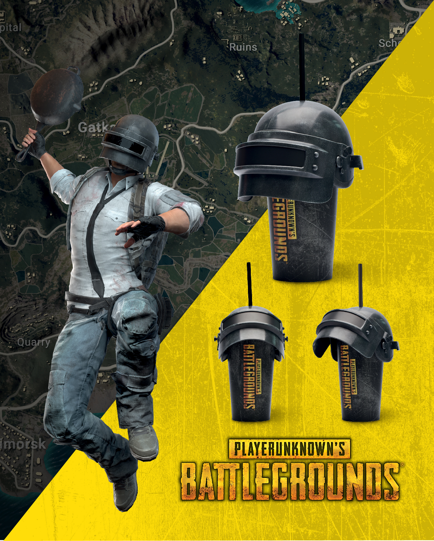 'PUBG BATTLEGROUNDS, 2019' - HELMET CUP - LOTTE CINEMA